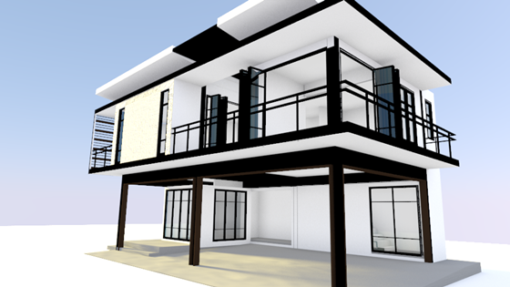 Private Owner Housing Architectural Design Supapong